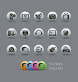 Communication Icons Pearly Series vector image vector image