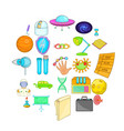 competence icons set cartoon style vector image vector image