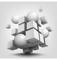 Composition with 3d cubes and spheres vector image