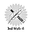 feather logo an ink pen vector image