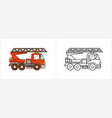 firetruck car coloring book for kids fire truck vector image vector image