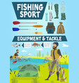 fisher men catching fish on lake in boat vector image vector image