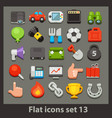 flat icon-set 13 vector image