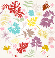 floral pattern with autumn foliage vector image vector image