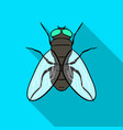 fly icon in flat style isolated on white vector image