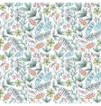 Forest seamless pattern in pastel colors vector image