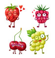 funny berry character isolated on white background vector image