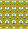 funny cartoon monster seamless pattern cute alien vector image vector image
