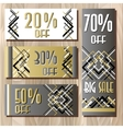 Golden black sale banner template in art deco vector image vector image