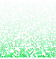 green geometric dot pattern background - design vector image vector image
