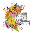 happy birthday template for cards and banners vector image vector image