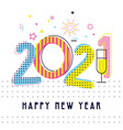 happy new year- 2021 greeting background design vector image vector image