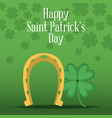 happy saint patricks day card vector image