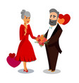 husband giving flowers to wife cartoon drawing vector image