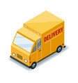 isometric express cargo truck transportation vector image
