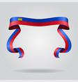 liechtenstein flag wavy ribbon background vector image vector image