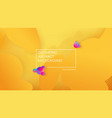 liquid color background design fluid yellow vector image