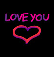 love neon vector image