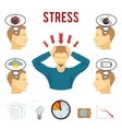 Mental disorder and stress icons set vector image vector image