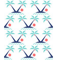 minimal tropical landscape with coconut palm tree vector image