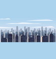 modern city panorama with high skyscrapers vector image vector image