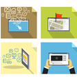 Modern technology concepts vector image vector image