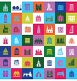 Mosaic city vector image