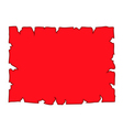 Parchment paper blank document red vector image vector image