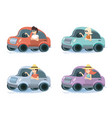 people driving cars travel vacations vector image vector image