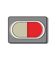 pill medicine symbol vector image