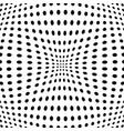 polka dot pattern with fisheye effect vector image