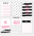 printable cartoon set design card polka do vector image
