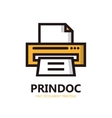 printer icon or logo vector image