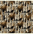 psychedelic greek key 3d seamless pattern vector image vector image