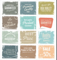 quality retro grunge banner collection vector image vector image