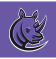 rhino sport logo logotype template for mascot vector image vector image