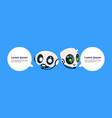 robot chatter bot or chatbot on blue background vector image