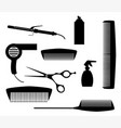 salon tools vector image vector image
