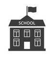 school flat icon on white background vector image vector image