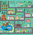 seamless road play mat for kids activity vector image vector image