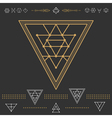 Set of geometric hipster shapes 9zn72211black vector image vector image