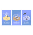 small air transport banners vector image vector image
