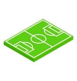 Soccer field layout isometric 3d icon vector image vector image