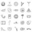 stag icons set outline style vector image vector image