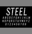 steel or silver shiny text 3d effect design vector image