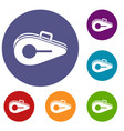 tennis bag icons set vector image vector image