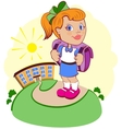 The girl goes to school vector image vector image