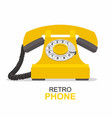 yellow vintage telephone isolated on white vector image vector image