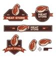 Set of retro labels badges emblems for meat store vector image