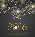 Gold new year on black background design vector image